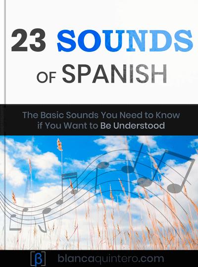 "How to improve pronunciation in Spanish free e-book: ""23 sounds of Spanish"" alphabet, with audio, exercises and comparisons between English and Spanish sounds."
