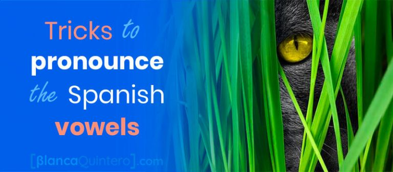 How to pronounce the Spanish vowels, that are different from English vowels