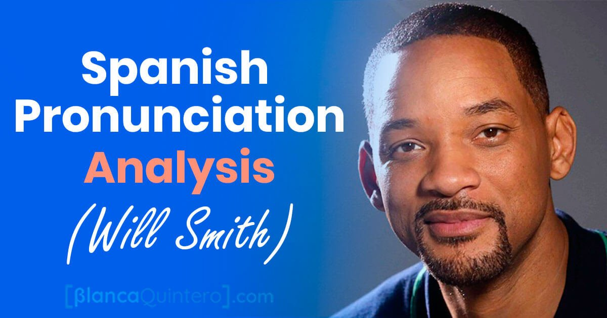 Spanish pronunciation alanysis assessment will smith intonation, connected speech, pitc, sounds, mistakes and how to improve and pronounce like a native speaker comparison with IPA international phonetic alphabet syllables errors película padre hijo tiene acción efectos especiales padre hijo After Earth el hormiguero london tv program